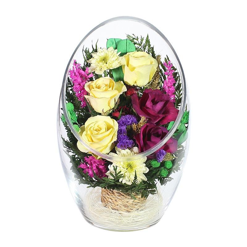 Цена, букет из живых цветов хранящийся 5 лет в спб